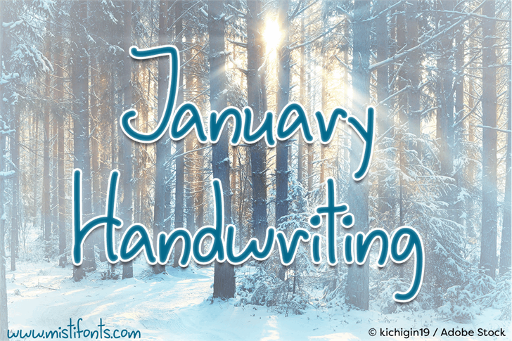 January Handwriting font by Misti's Fonts