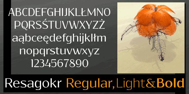 Resagokr font by gluk