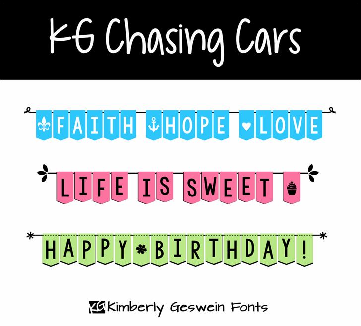 Image for KG Chasing Cars font