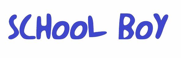 Image for schoolboy font
