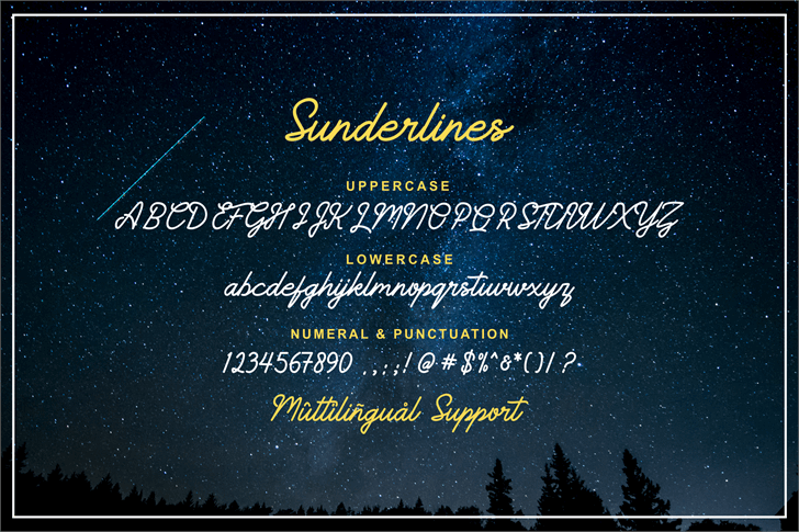 Image for Sunderlines Demo font