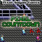 Pixel Countdown font by Pixel Sagas