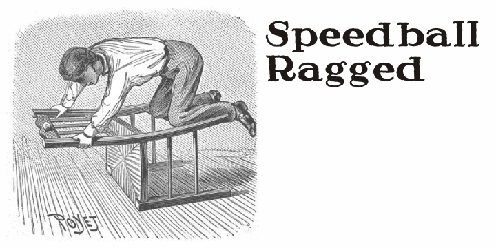 Image for Speedball Ragged font