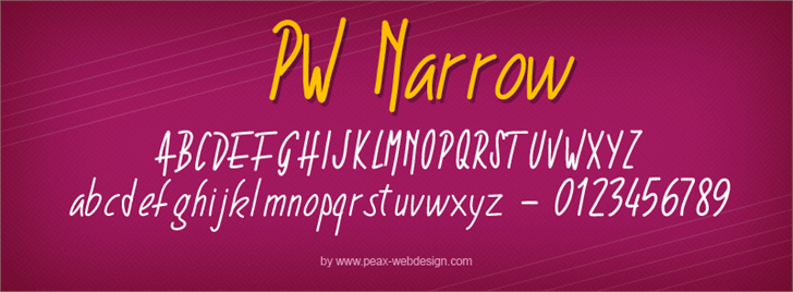 Image for PWNarrow font