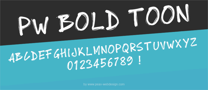 PWBoldToon font by Peax Webdesign