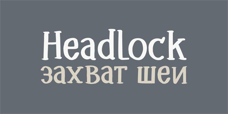 Image for DK Headlock font