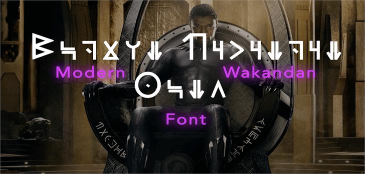 Modern Wakandan font by Kaptured Kaios