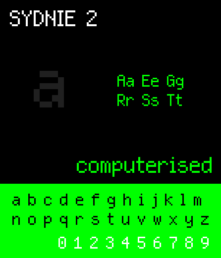 Image for NBP Sydnie2 font
