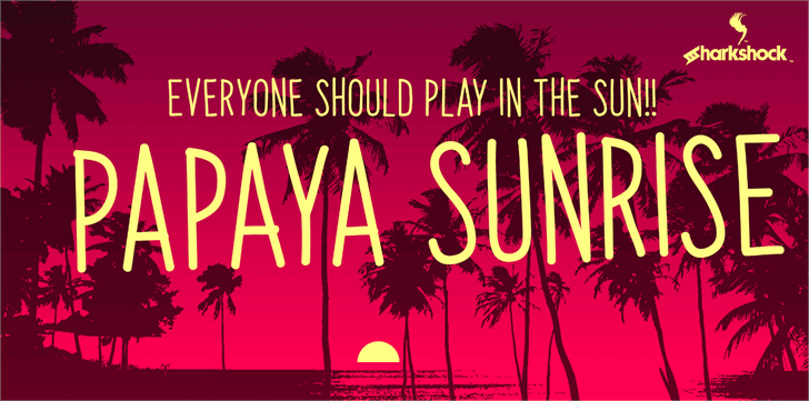 Papaya Sunrise font by sharkshock