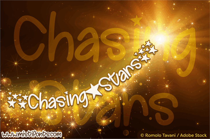Chasing Stars font by Misti's Fonts