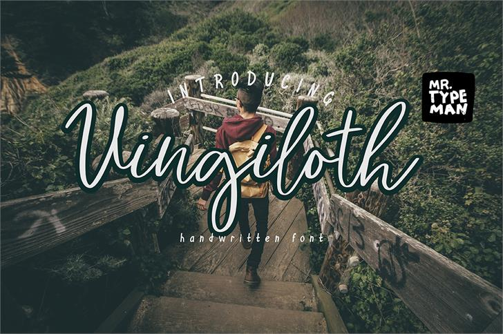 Vingiloth font by Mr. Typeman