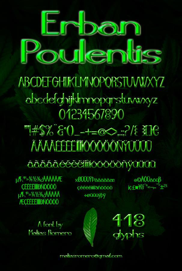 Image for Erban Poulentis font