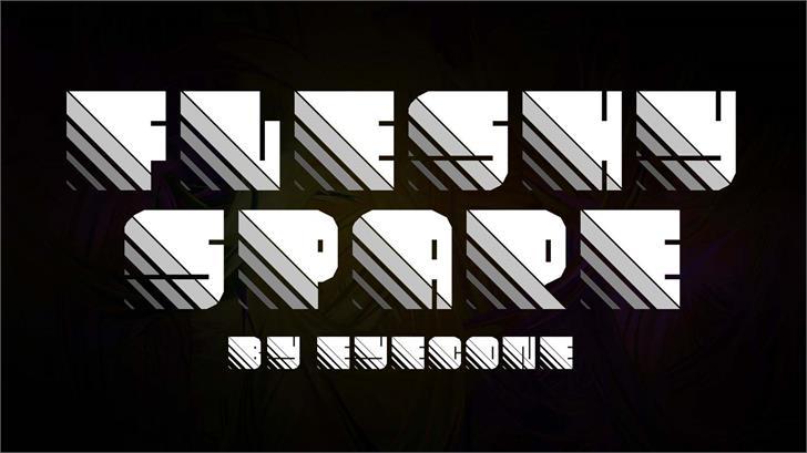 Fleshy Spare font by eyecone