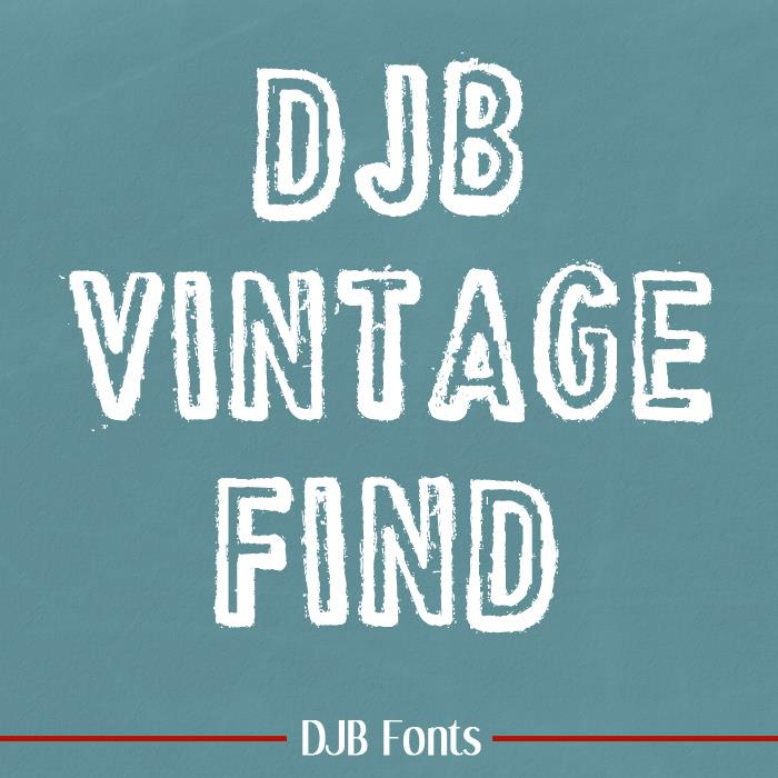 VINTAGE FIND font by Darcy Baldwin Fonts