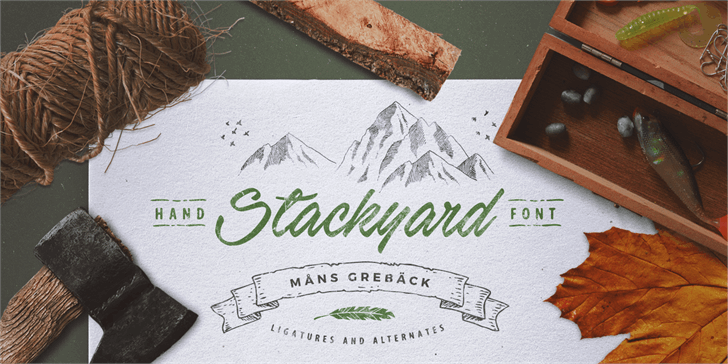 Stackyard PERSONAL USE font by Måns Grebäck