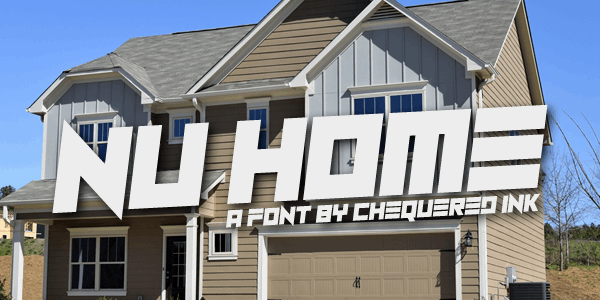 Nu Home font by Chequered Ink