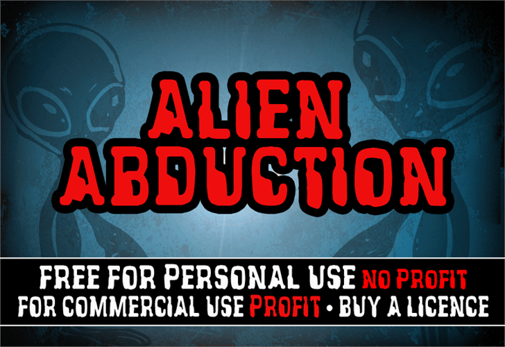 Image for CF Alien Abduction font
