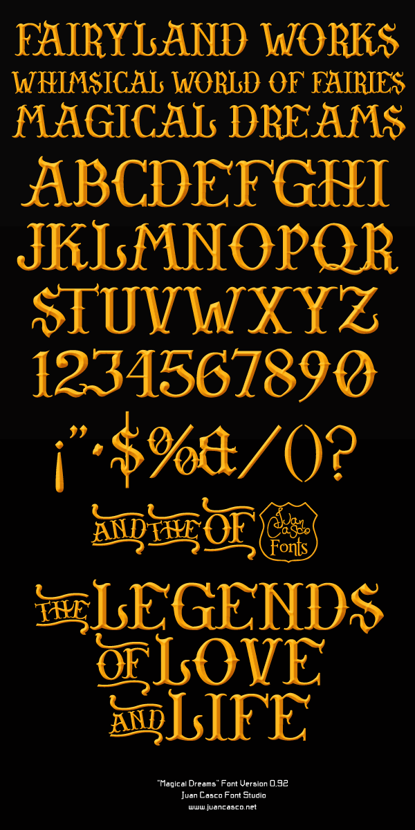 Image for Magical Dreams font