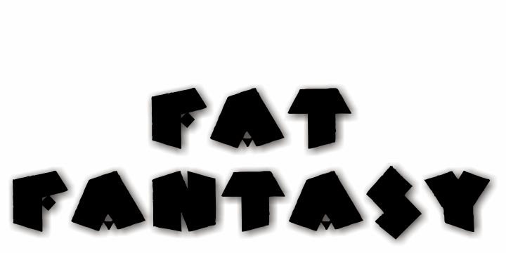 Image for Fat Fantasy font