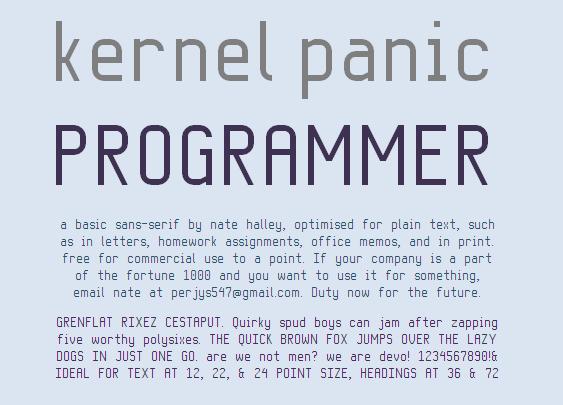 Image for KP Programmer NBP font