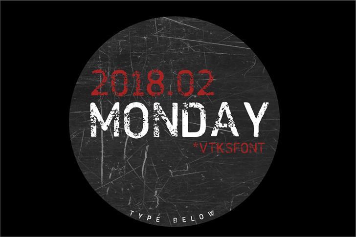 Image for VTKS MONDAY font