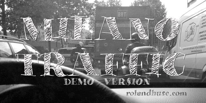 Milano Traffic Demo font by Roland Huse Design