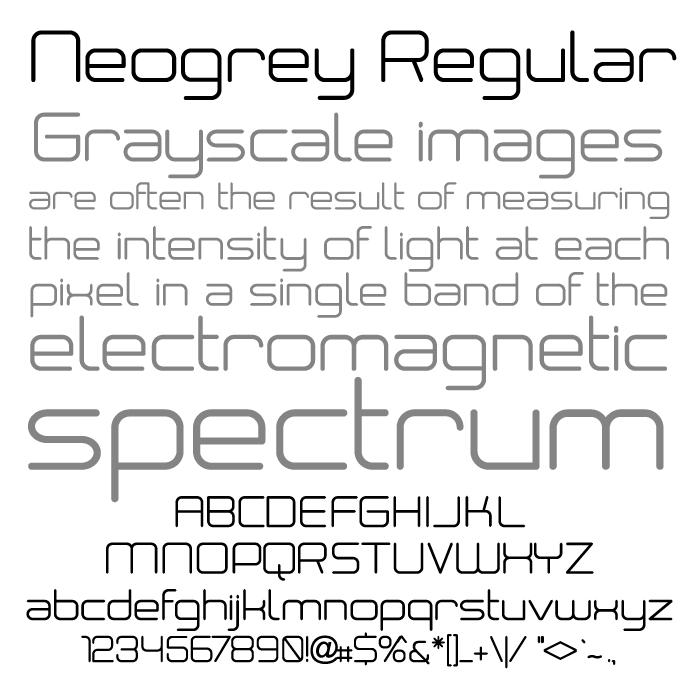 Image for Neogrey font