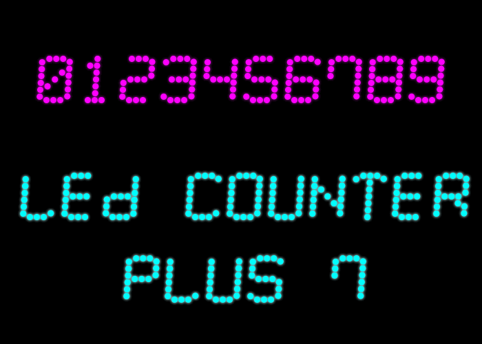 LED Counter Plus 7 font by Style-7