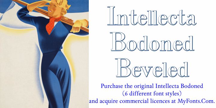 Image for IntellectaBodoned Beveled font