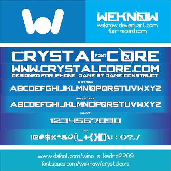 CRYSTALCORE font by weknow