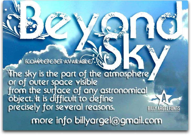 Beyond Sky font by Billy Argel