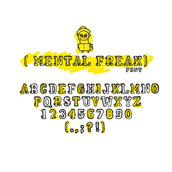 MENTAL FREAK font by RASDESIGN