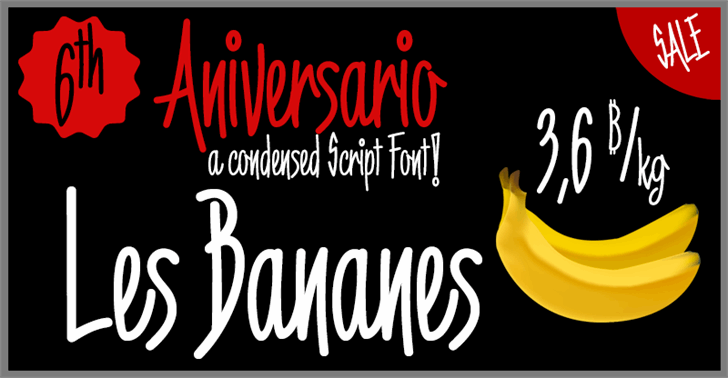 Image for 6th Aniversario font