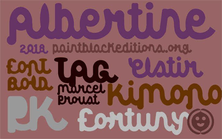 Albertine font by paintblack éditions