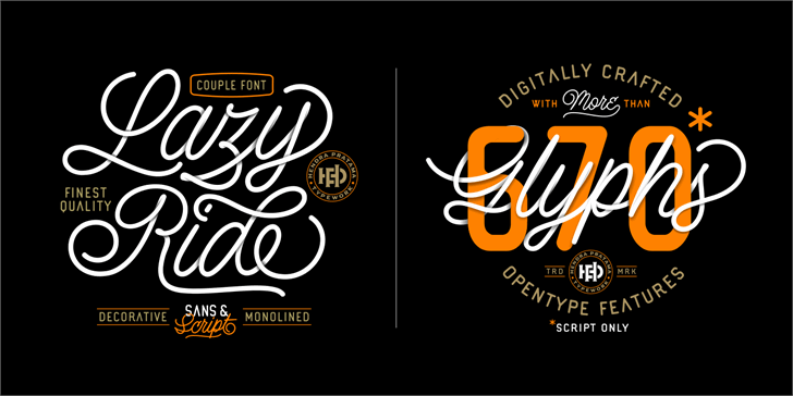 Lazy Ride Personal Use font by HPTypework
