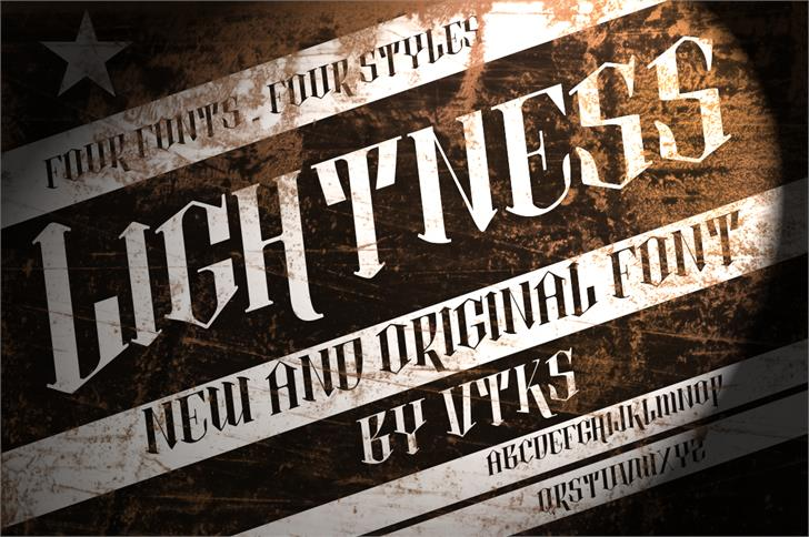 Image for vtks lightness 2 font