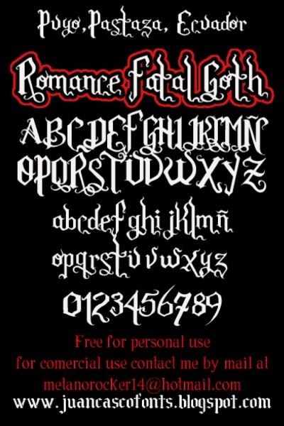 Image for Romance Fatal Goth font