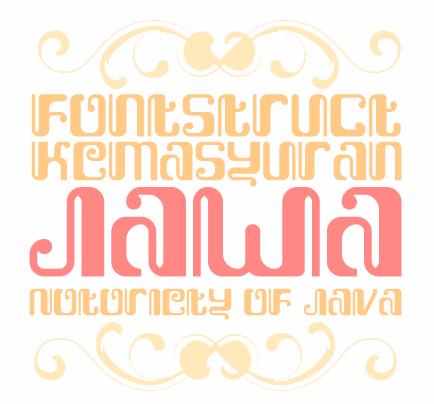 Image for Kemasyuran Jawa font