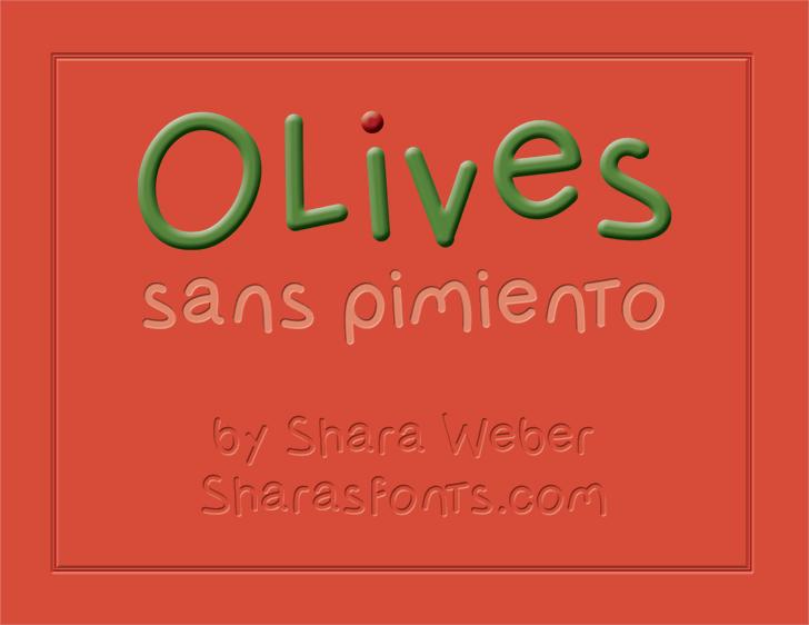 Image for OlivessansPimiento font