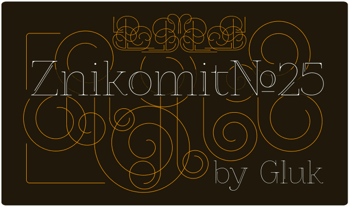 Image for ZnikomitNo25 font