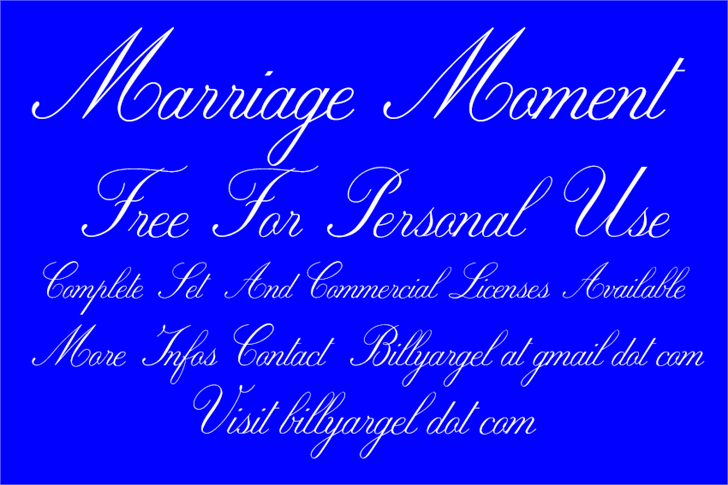 Marriage Moment Personal Use font by Billy Argel