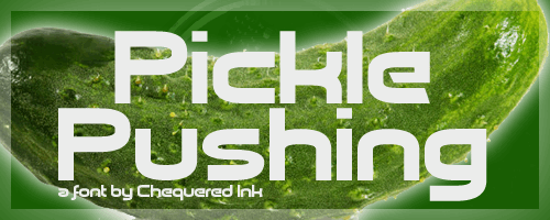 Image for Pickle Pushing font
