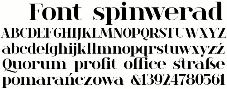 Image for spinwerad font