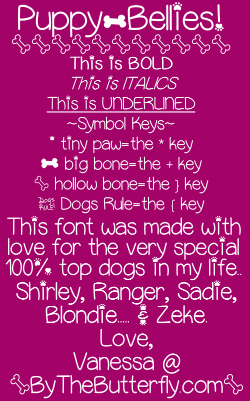 Image for PuppyBellies font