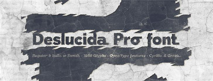 Image for Deslucida font