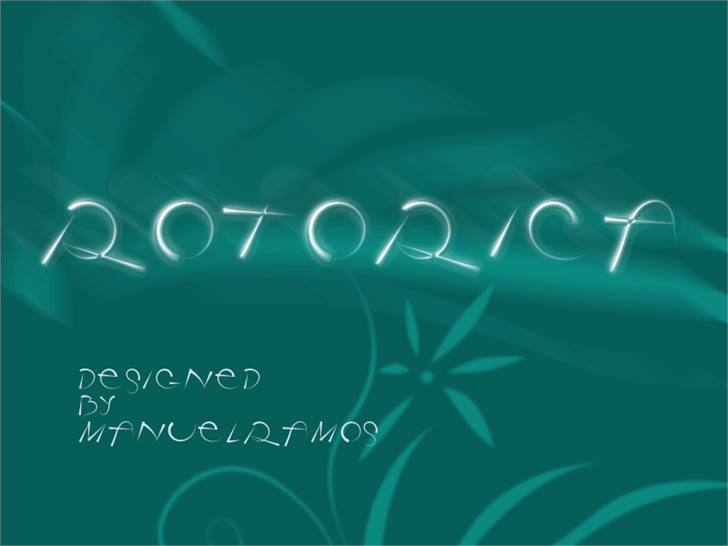 Image for Rotorica font