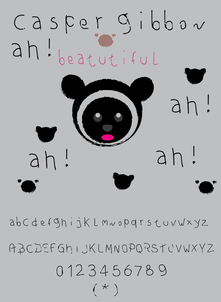 Image for casper gibbon font