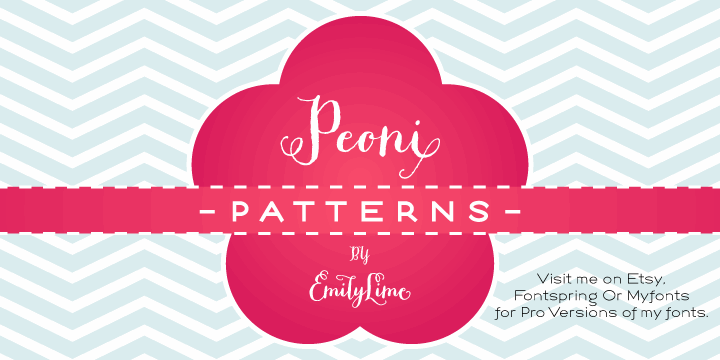 Image for Peoni Patterns font