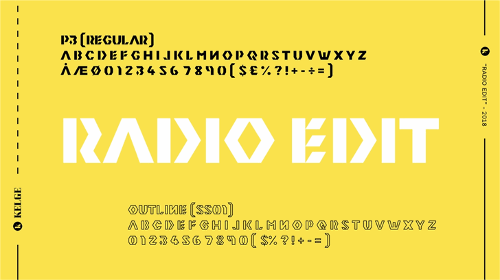 Image for Radio Edit font