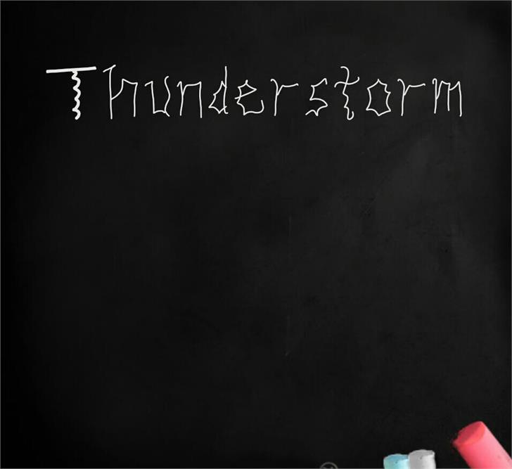 Image for THUNDERSTORM font